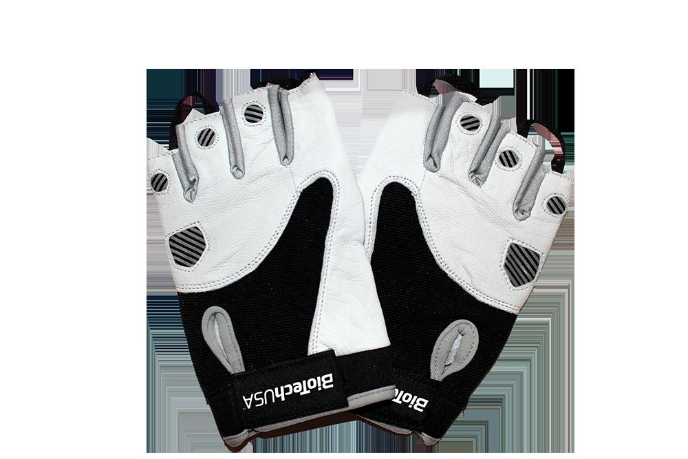 BioTech USA Black and white Gloves  pair