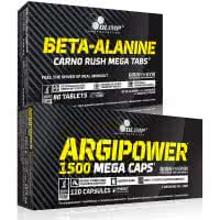 Olimp Sport Nutrition Argipower 1500 Mega Caps + Beta Alanine Carno Rush (set)