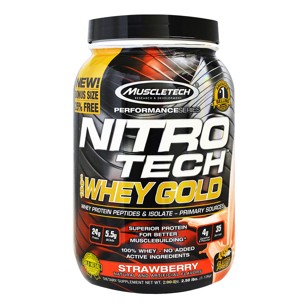MuscleTech Nitro Tech 100% Whey Gold 1,13 kg