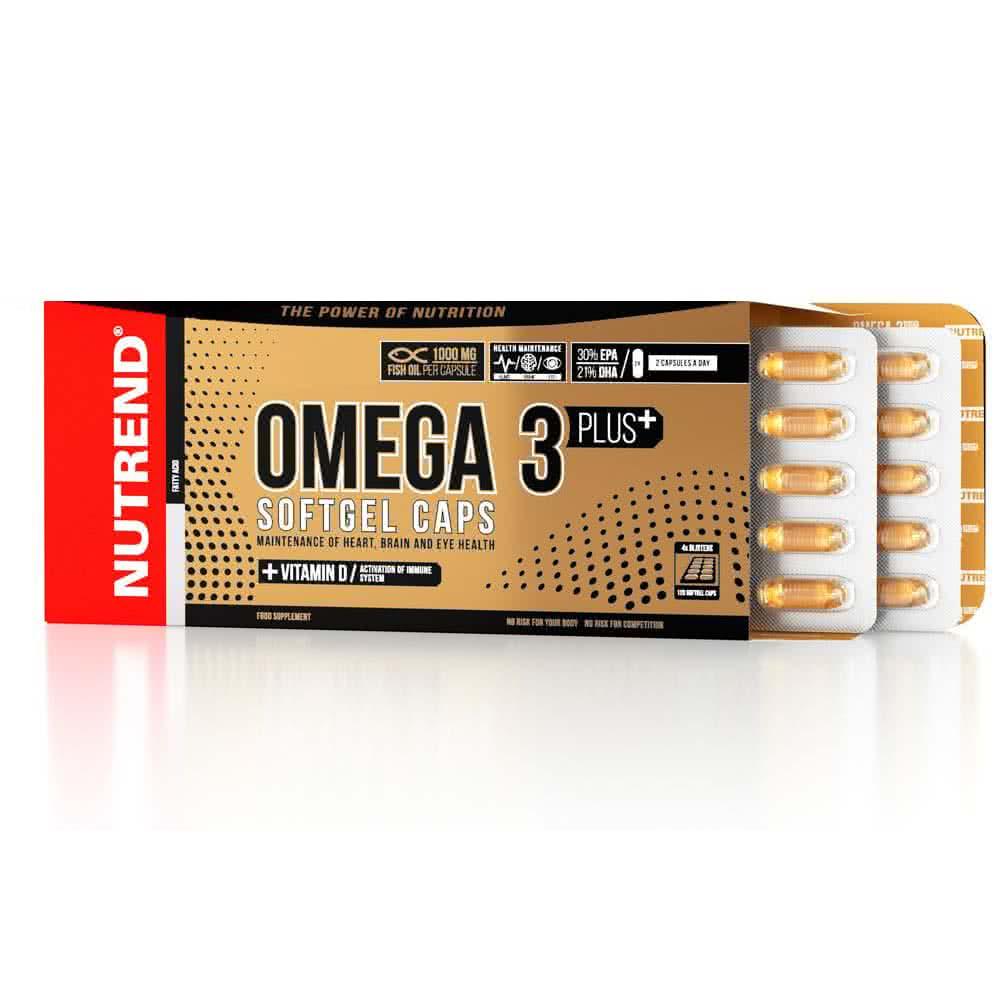 Nutrend Omega 3 Plus Softgel Caps 120 caps