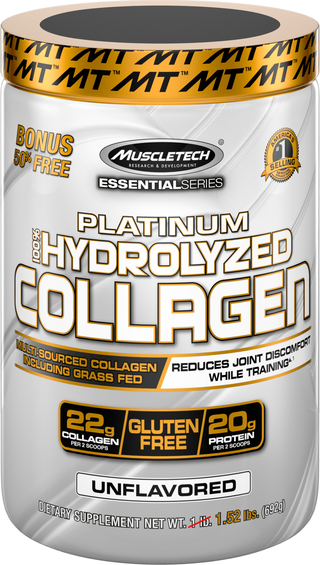 MuscleTech Platinum 100% Hydrolyzed Collagen 692 gr.