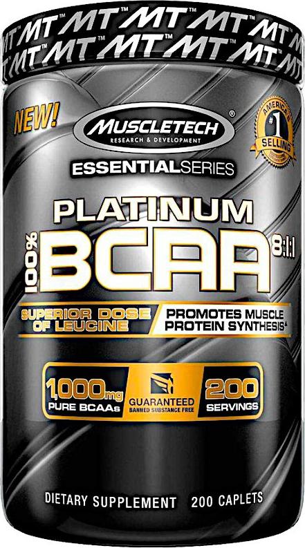 MuscleTech Platinum BCAA 200 tab.