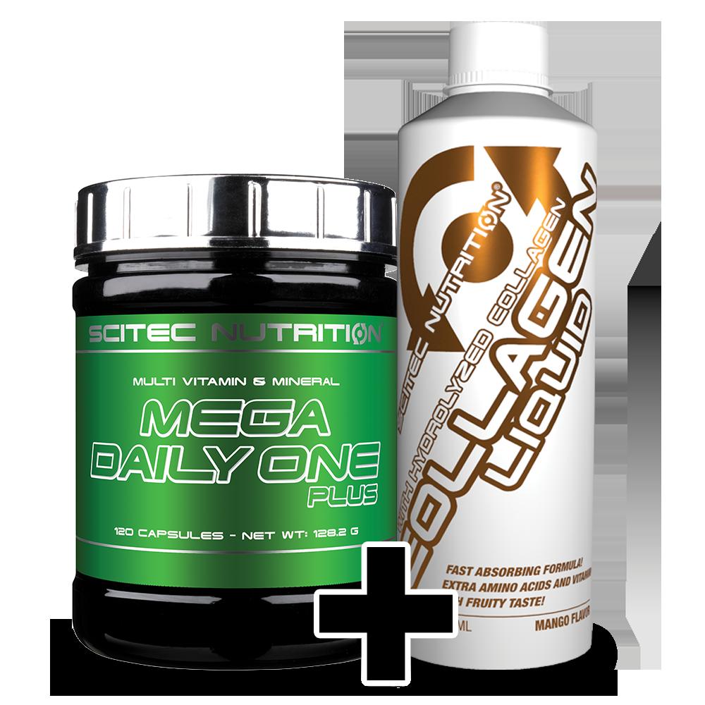 Scitec Nutrition Mega Daily One Plus + Collagen Liquid set