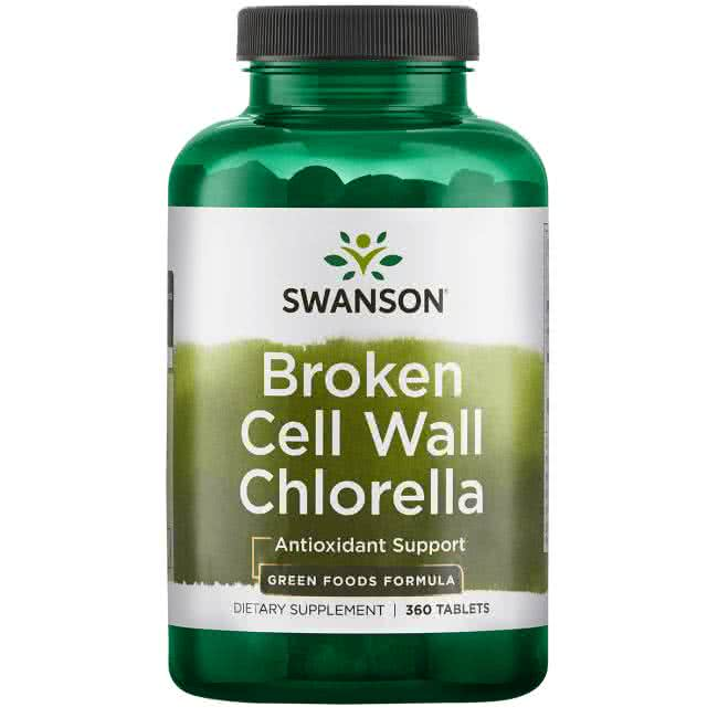 Swanson Broken Cell Wall Chlorella 360 tab.