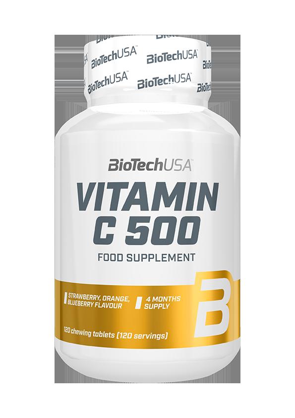 BioTech USA Vitamin C-500 Chewables 120 chews